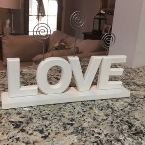 LOVE word photo clip